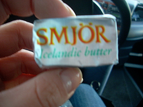Butter in Iceland, for real.