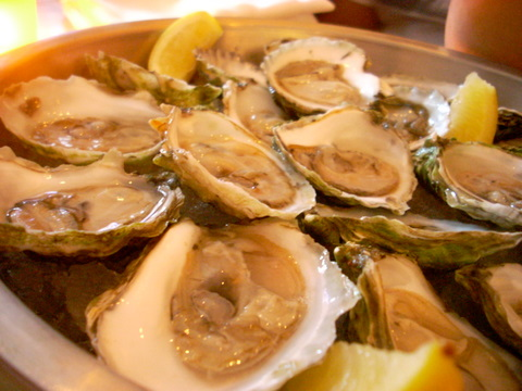 $1 Oyster Mondays at Rialto in Harvard Square, best with a squeeze of lemon