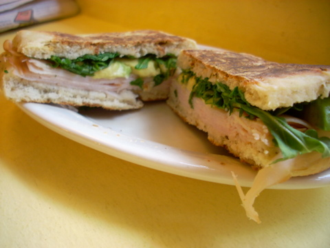 A turkey/avocado sandwich from Cafe Pamplona - so so