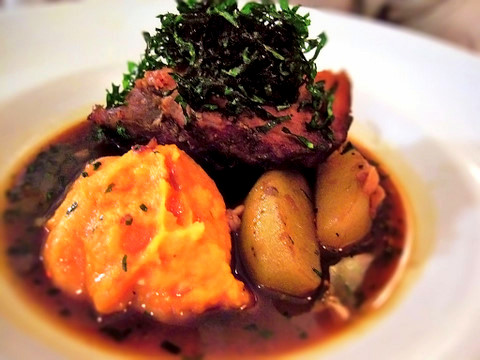 cider braised pork shoulder with caramelized onion and apple confit ...