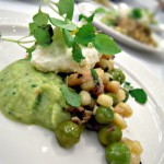 Will Gilson of Garden at the Cellar - grilled octopus salad, marinated peas, hen of the woods mushrooms