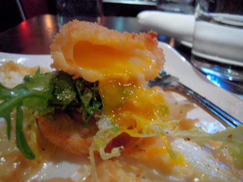Crispy Soft Poached Chip-In Farm Egg 7 Pecorino Aioli, Toasted Brioche, House Pancetta
